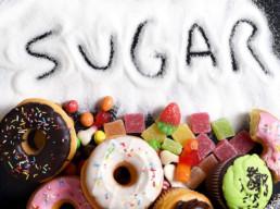Sugar on a plate