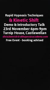 Rapid Hypnosis & Kinetic Shift Free Talk & Demo