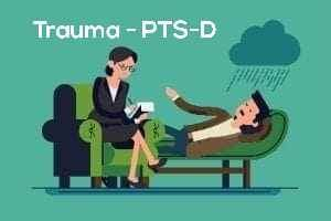 Trauma PTS-D Therapist supporting Client